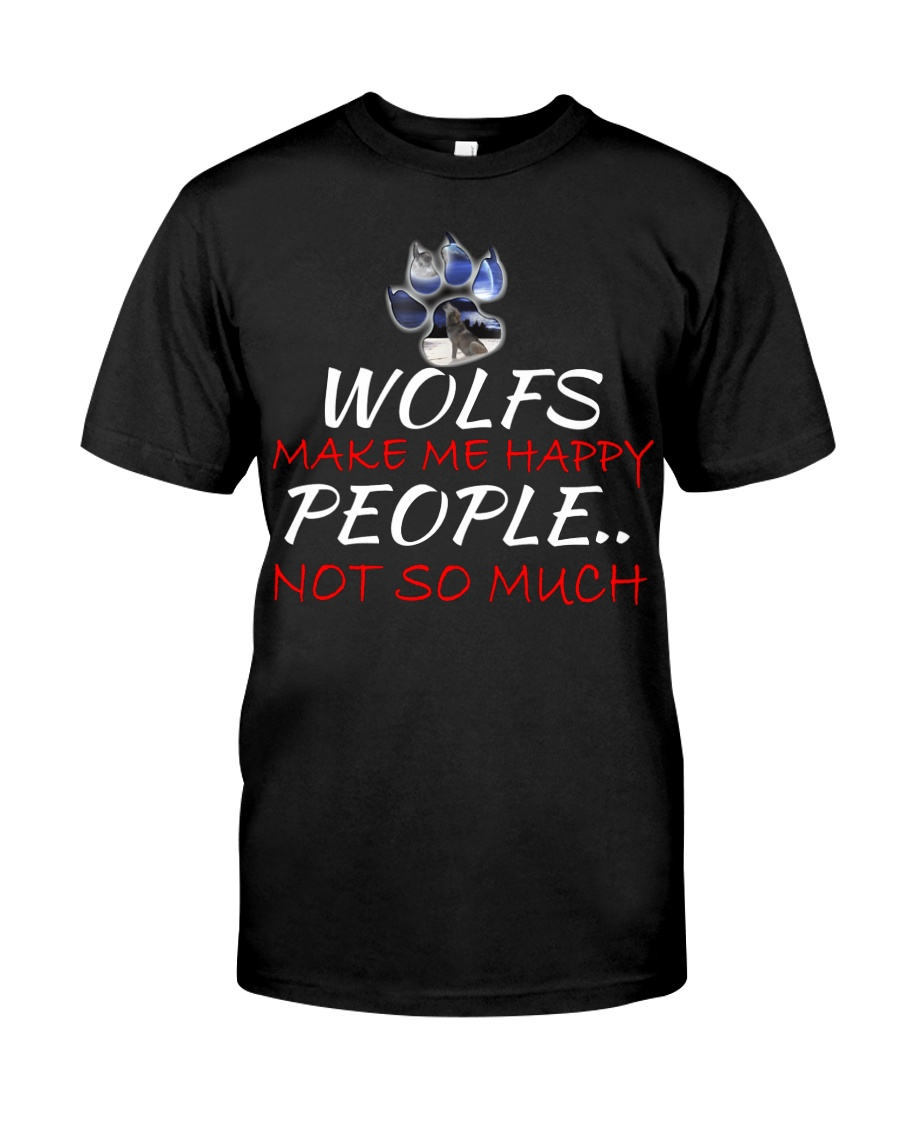 Wolfs make me happy Classic T-Shirt