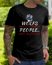 Wolfs make me happy Classic T-Shirt lifestyle-mens-crewneck-front-7