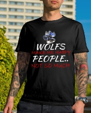 Wolfs make me happy Classic T-Shirt lifestyle-mens-crewneck-front-8