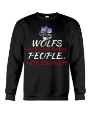Wolfs make me happy Crewneck Sweatshirt thumbnail