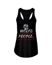 Wolfs make me happy Ladies Flowy Tank thumbnail