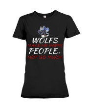Wolfs make me happy Premium Fit Ladies Tee thumbnail