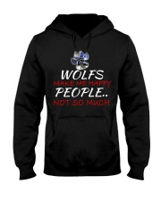Wolfs make me happy Hooded Sweatshirt thumbnail