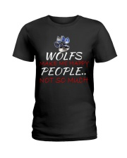 Wolfs make me happy Ladies T-Shirt thumbnail