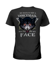 Wolf face tee Ladies T-Shirt tile