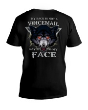 Wolf face tee V-Neck T-Shirt thumbnail