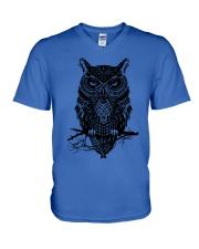 Owl  V-Neck T-Shirt thumbnail
