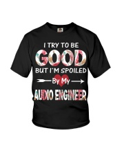 By my Audio engineer Youth T-Shirt thumbnail