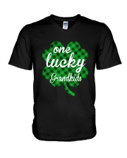 One lucky Grandkids V-Neck T-Shirt thumbnail