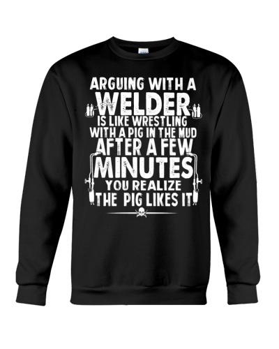 With a Welder