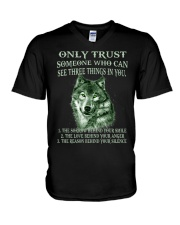 Only Trust  V-Neck T-Shirt thumbnail