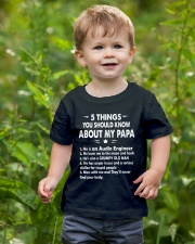 My PaPa is an Audio Engineer Youth T-Shirt lifestyle-youth-tshirt-front-3