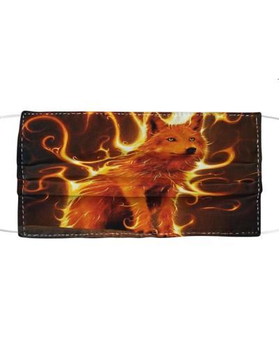 Fire Wolf  Cloth Mask