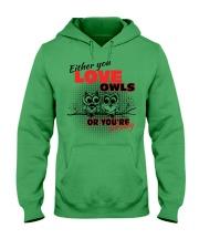 Love Owl Hooded Sweatshirt thumbnail