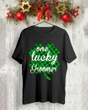 One Lucky Groomer  Classic T-Shirt lifestyle-holiday-crewneck-front-2