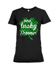 One Lucky Groomer  Premium Fit Ladies Tee thumbnail
