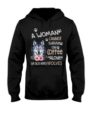 A Woman and Wolves Hooded Sweatshirt thumbnail