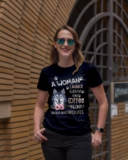 A Woman and Wolves Ladies T-Shirt lifestyle-women-crewneck-front-2