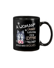 A Woman and Wolves Mug thumbnail