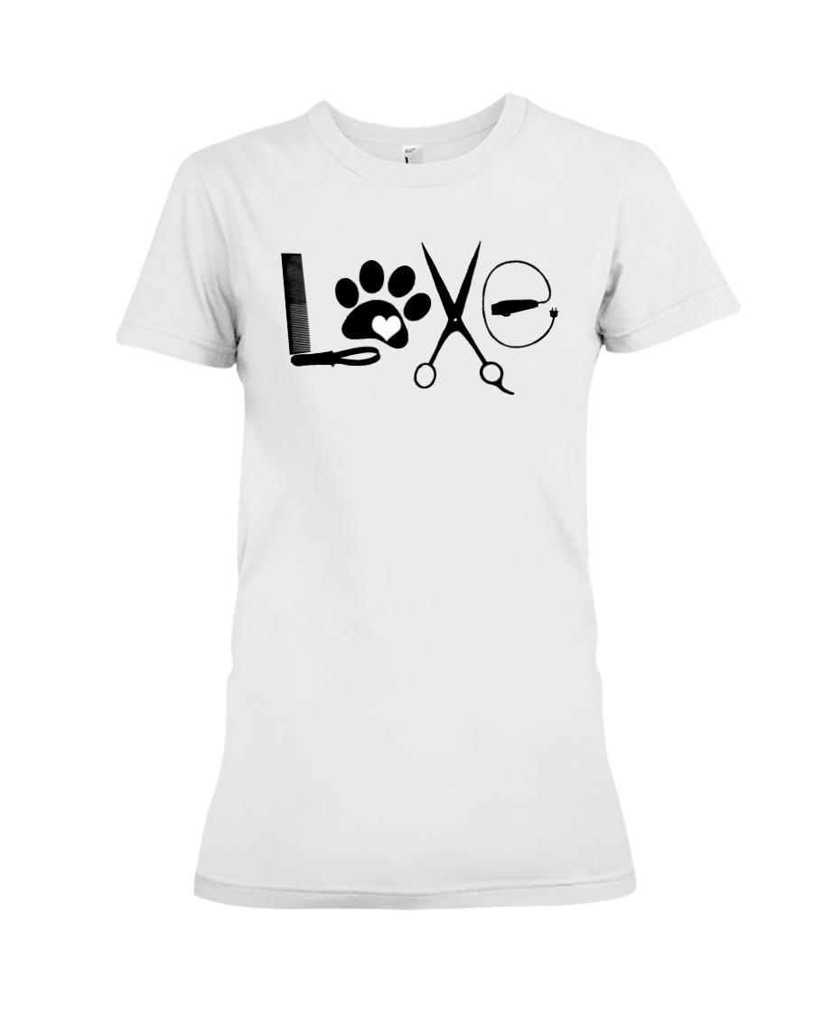 Dog Groomer Tshirt Premium Fit Ladies Tee