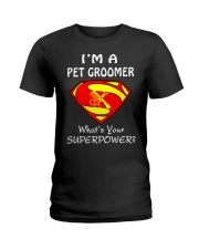 Pet Groomer Ladies T-Shirt front