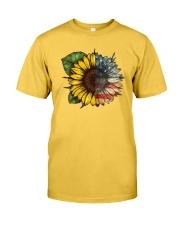 Sunflower America flag Classic T-Shirt tile