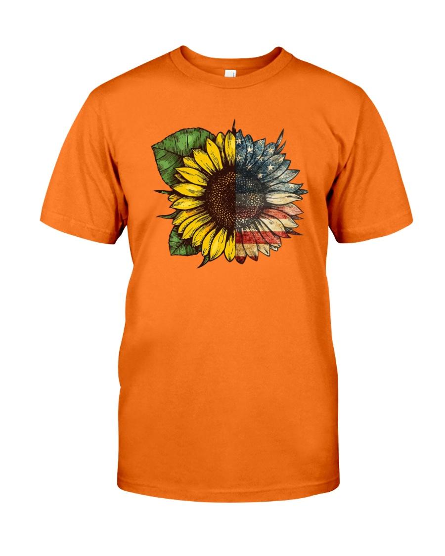 Sunflower America flag Classic T-Shirt