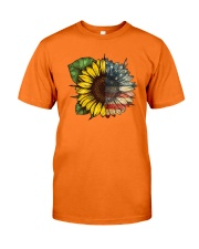 Sunflower America flag Classic T-Shirt front
