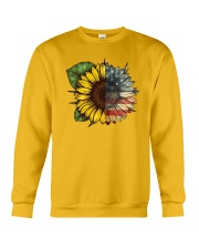 Sunflower America flag Crewneck Sweatshirt thumbnail