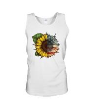 Sunflower America flag Unisex Tank thumbnail