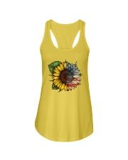 Sunflower America flag Ladies Flowy Tank thumbnail
