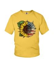 Sunflower America flag Youth T-Shirt thumbnail