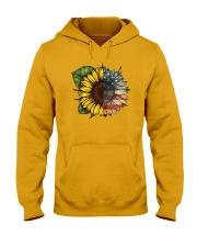 Sunflower America flag Hooded Sweatshirt thumbnail