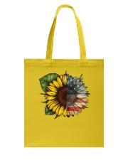 Sunflower America flag Tote Bag thumbnail