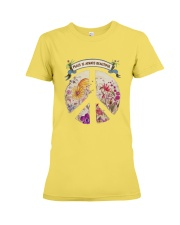 Peace is always beautiful Premium Fit Ladies Tee thumbnail