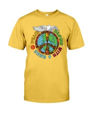 Peace begins with a smile Classic T-Shirt tile