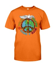 Peace begins with a smile Classic T-Shirt front
