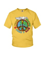 Peace begins with a smile Youth T-Shirt thumbnail