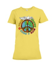Peace begins with a smile Premium Fit Ladies Tee thumbnail