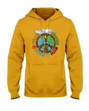 Peace begins with a smile Hooded Sweatshirt thumbnail