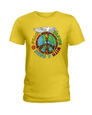 Peace begins with a smile Ladies T-Shirt thumbnail