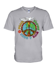 Peace begins with a smile V-Neck T-Shirt thumbnail