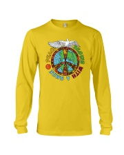Peace begins with a smile Long Sleeve Tee thumbnail