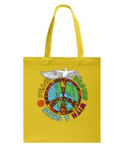 Peace begins with a smile Tote Bag thumbnail