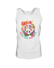 Peace love happiness Unisex Tank tile
