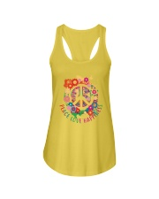 Peace love happiness Ladies Flowy Tank thumbnail