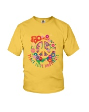 Peace love happiness Youth T-Shirt thumbnail