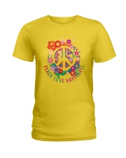 Peace love happiness Ladies T-Shirt thumbnail