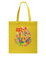 Peace love happiness Tote Bag thumbnail