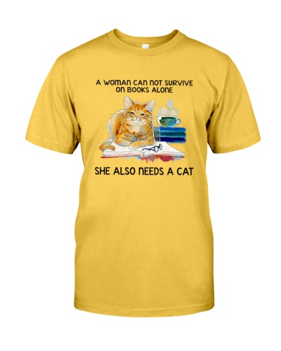 Women Cat Book Coffee